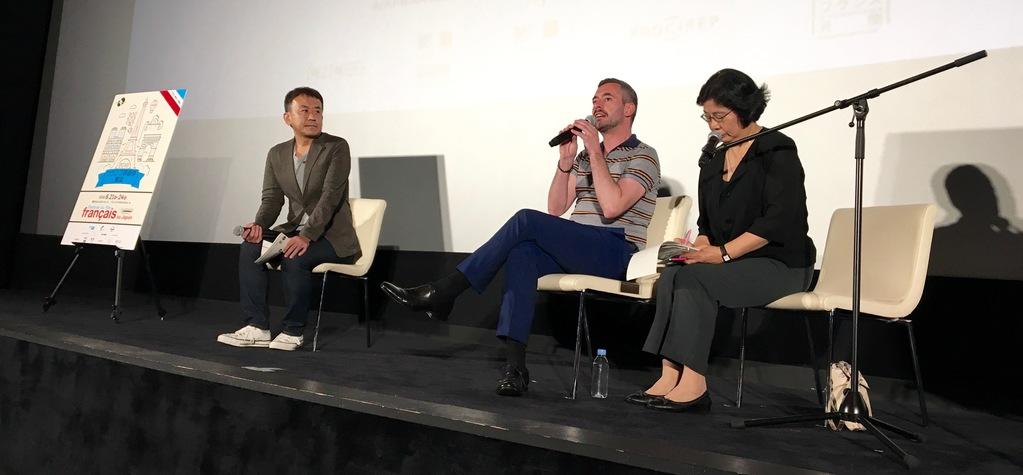 Xavier Legrand pendant la rencontre avec le public