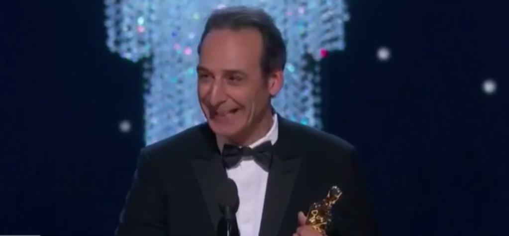 The composer Alexandre Desplat wins his second Oscar