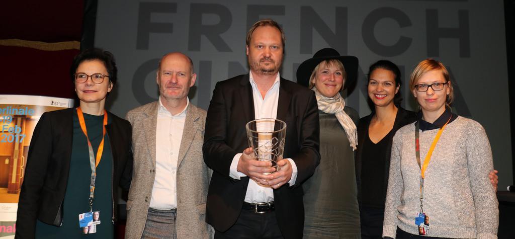 UniFrance presents a French Cinema Award to Torsten Frehse - Sabine Chemaly, Jean-Paul Salomé, Torsten Frehse, Dorothée Pfistner, Isabelle Giordano, Sylvia Müller