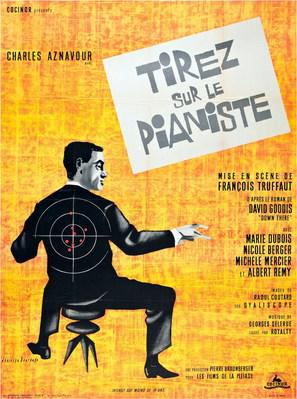 Disparad al pianista - Poster France