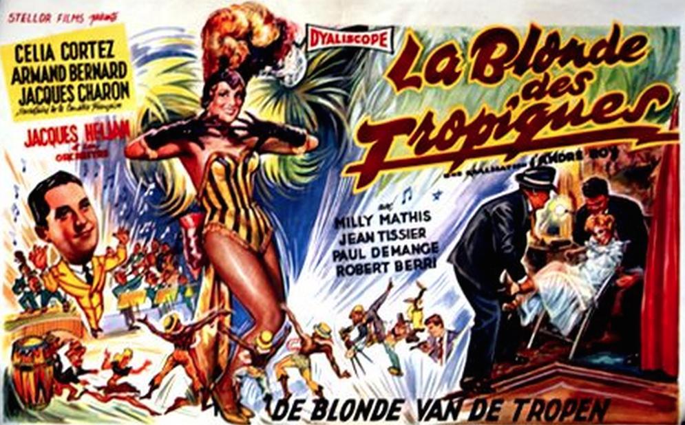 La Blonde des Tropiques - Poster Belgique