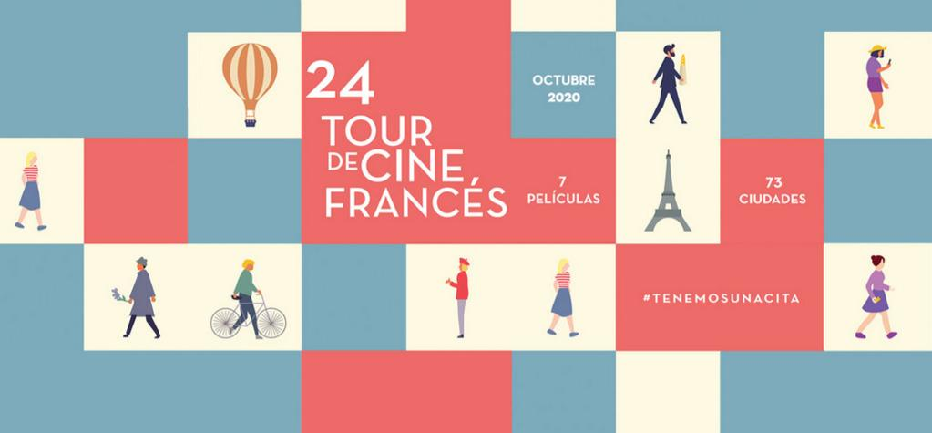 24° Tour de Cine Francés de México, ¡el mayor festival de cine francés del mundo!