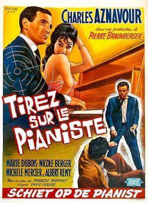 Tirez sur le pianiste - Poster Belgique