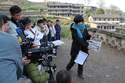 Wang Liu Wenqing - On Set, 2010 - © Isabelle Glachant