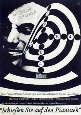 Disparad al pianista - Poster Allemagne