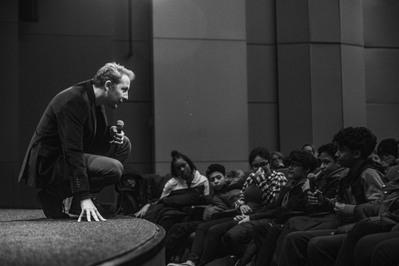 Record-breaking success for the 2018 edition of the Rendez-Vous with French Cinema in New York - Rencontres scolaires avec Rachid Hami autour de - © @Thomas Brunot/UniFrance