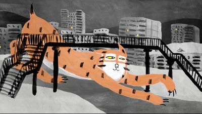 都会のオオヤマネコ