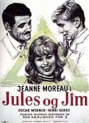 Jules and Jim - Poster Danemark