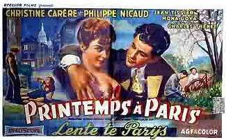 Springtime in Paris - Poster Belgique