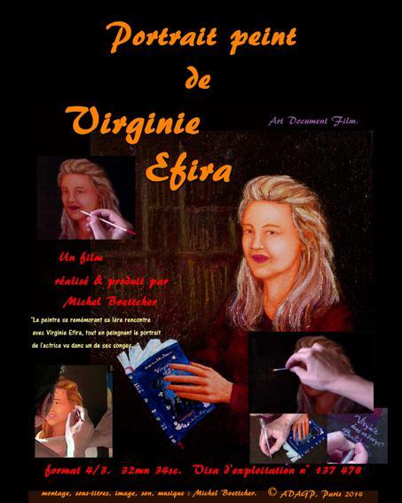 Portrait peint de Virginie Efira