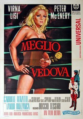 Better a Widow - Poster - Italy